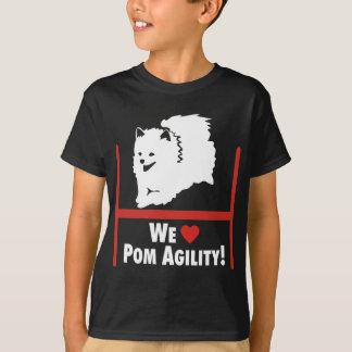 ポメラニア犬の敏捷愛 Tシャツ