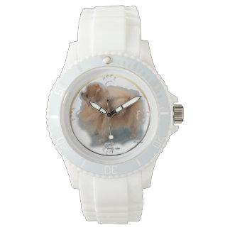 ポメラニア犬の芸術のギフト 腕時計