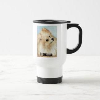 ポメラニア犬の頭部の勉強犬の芸術のタンブラー トラベルマグ