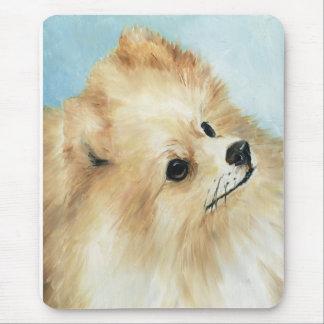 ポメラニア犬の頭部の勉強犬の芸術のマウスパッド マウスパッド
