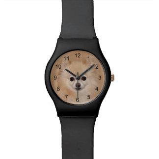 ポメラニア犬の顔 腕時計