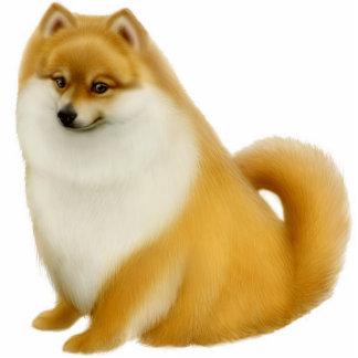 ポメラニア犬犬のオーナメント 写真彫刻オーナメント