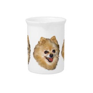 ポメラニア犬犬のカスタマイズ可能な水差し ピッチャー