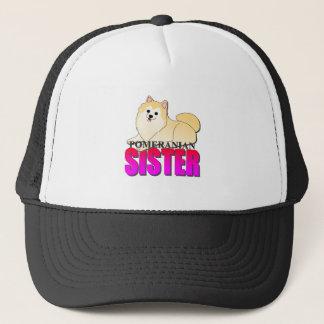 ポメラニア犬犬の姉妹 キャップ
