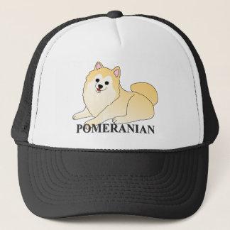 ポメラニア犬犬の漫画 キャップ