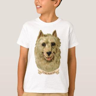 ポメラニア犬犬の美しい顔のポートレート Tシャツ