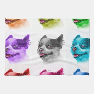 ポメラニア犬犬の芸術4584 WB キッチンタオル