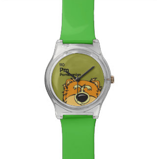 ポメラニア犬-犬のテーブル 腕時計