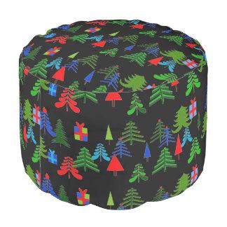 ポリエステル円形のクリスマスのPouf プーフ