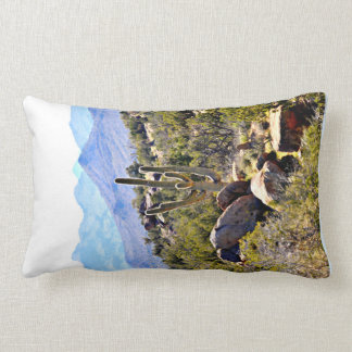 ポリエステル腰神経の枕-山のサグアロ ランバークッション