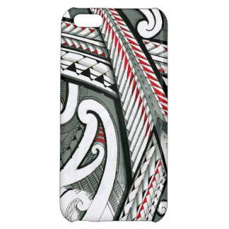 ポリネシアの芸術の赤い灰色の入れ墨のデザインの島のhawai iPhone5C カバー