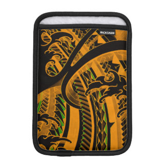 ポリネシアの芸術パターンとの日本の入れ墨のデザイン iPad MINIスリーブ