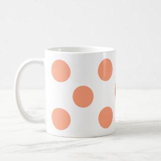 ポルカのピンク コーヒーマグカップ