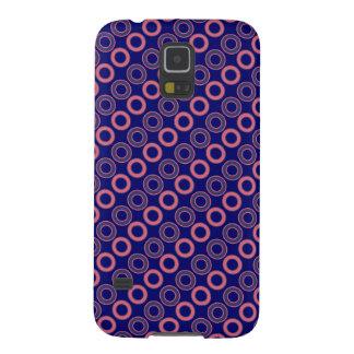 ポルカのレトロのピンクの青い円 GALAXY S5 ケース