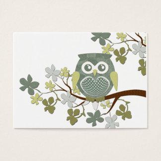 ポルカの木のフクロウの名刺 チャビ―名刺