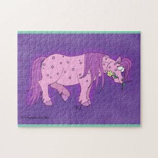 ポルカの点々のあるな子馬のパズル ジグソーパズル