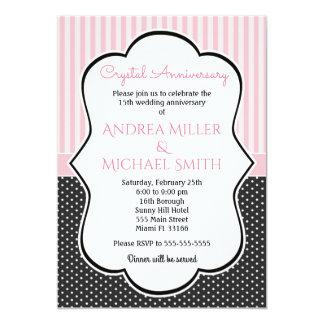 ポルカ水晶全年の結婚記念日の招待 カード
