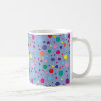 ポルカDots Serenity Blue Customizedの背景Clr コーヒーマグカップ