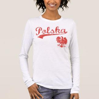 ポルスカのワシのスポーツのスタイル 長袖Tシャツ