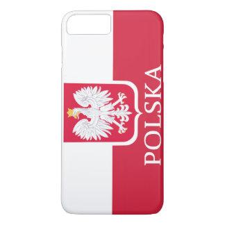 ポルスカの白いワシの旗 iPhone 8 PLUS/7 PLUSケース