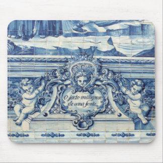 ポルトからのポルトガルの青いタイル マウスパッド
