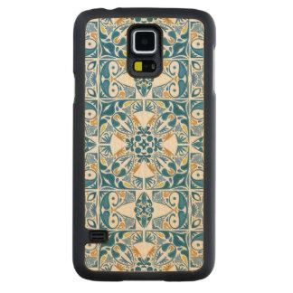 ポルトガルのタイルパターン CarvedメープルGalaxy S5スリムケース