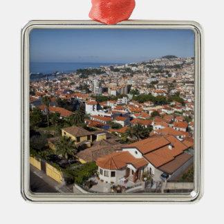 ポルトガルのマデイラの島、フンシャル。 ケーブル・カー メタルオーナメント