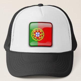ポルトガルの光沢のある旗 キャップ