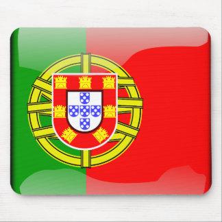 ポルトガルの光沢のある旗 マウスパッド