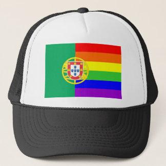 ポルトガルの国の陽気で誇り高い虹の旗の同性愛者 キャップ