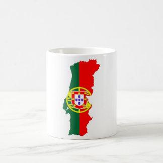 ポルトガルの国旗の地図 コーヒーマグカップ