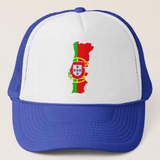 ポルトガルの地図および旗-帽子 キャップ