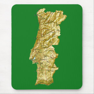 ポルトガルの地図のマウスパッド マウスパッド