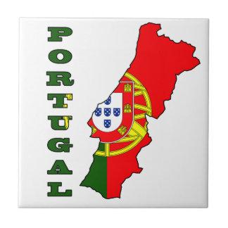 ポルトガルの地図の旗 タイル