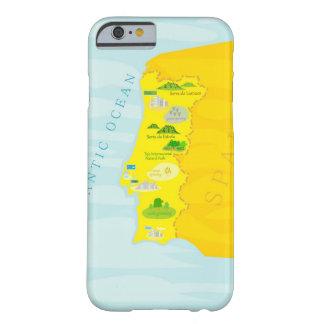 ポルトガルの地図 BARELY THERE iPhone 6 ケース