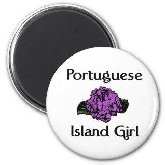 ポルトガルの島の女の子の~の紫色のアジサイ マグネット