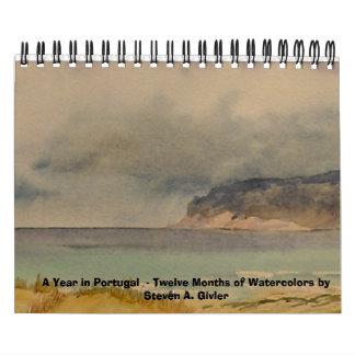 ポルトガルの年-水彩画のカレンダー カレンダー