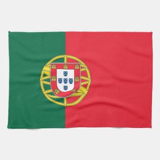ポルトガルの旗が付いている台所タオル ハンドタオル