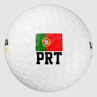 ポルトガルの旗のゴルフ・ボールは|ポルトガルのプライドを置きました ゴルフボール
