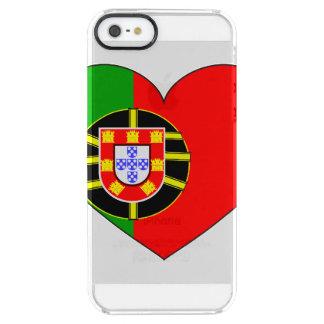 ポルトガルの旗のシンプル クリア iPhone SE/5/5sケース