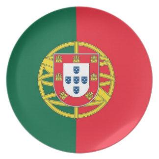 ポルトガルの旗のプレート プレート