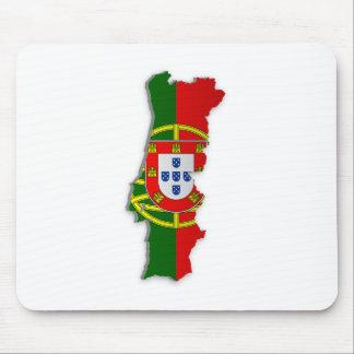 ポルトガルの旗の地図 マウスパッド