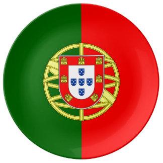 ポルトガルの旗の磁器皿 磁器製 食器