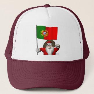 ポルトガルの旗を持つサンタクロース キャップ
