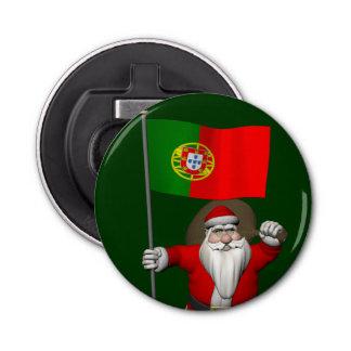 ポルトガルの旗を持つサンタクロース 栓抜き