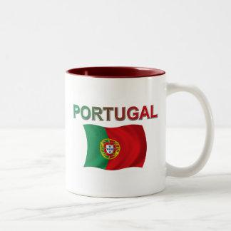 ポルトガルの旗 ツートーンマグカップ