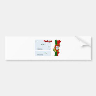 ポルトガルの旗Map_2 バンパーステッカー
