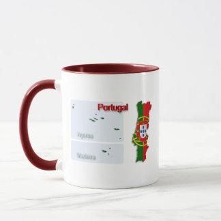 ポルトガルの旗Map_2 マグカップ