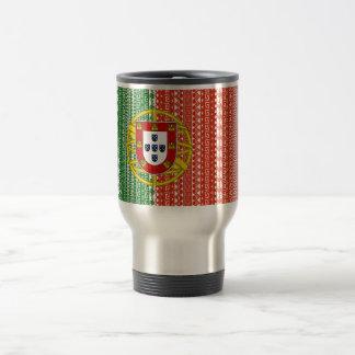 ポルトガルの涼しいアステカな旗のスタイリッシュなパターン トラベルマグ