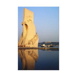 ポルトガルの発見記念碑、Tagus川 キャンバスプリント